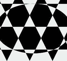 Hexagonal Pattern Theme 09 by Keith Richardson