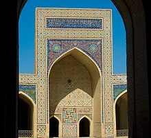 Bukhara Madrasah through archway by Speedy