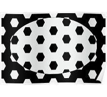 Hexagonal Pattern Theme 10 Poster