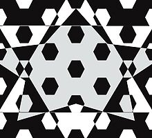 Hexagonal Pattern Theme 14 by Keith Richardson