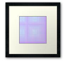 Violet Plaid Framed Print