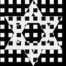 Star of David in a Black Lattice by Keith Richardson
