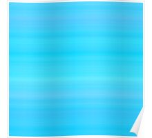 Blue-Cyan Sea Summer Stripes Poster