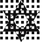 Star of David in White Lattice by Keith Richardson