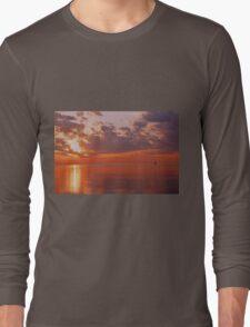 Red Sky Morning Long Sleeve T-Shirt