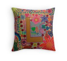 Initial L Throw Pillow