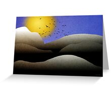 Mountain Sunset Landscape Greeting Card