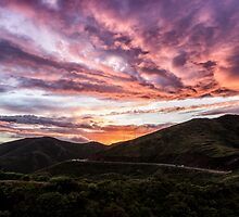 Sunset Fireworks Over Marin by Kristin Repsher