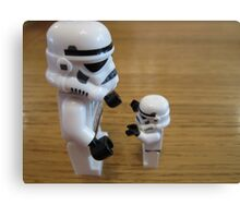 Dave Stormtrooper  Fathers Day Hug Canvas Print