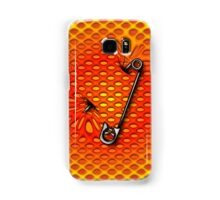 Sookie Skull Safety Pin Orange and Yellow Samsung Galaxy Case/Skin