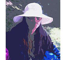 White Hat Photographic Print