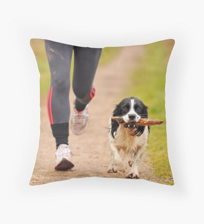 Jogging Throw Pillow