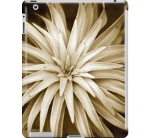 Abstract Spiral Monochrome Plant iPad Case/Skin