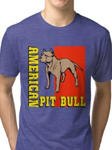AMERICAN PIT BULL-2 Tri-blend T-Shirt
