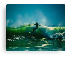 Riding The Crest Canvas Print