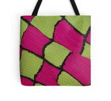 Checkered Yarn Tote Bag