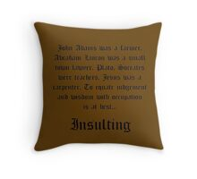 Judgment and Wisdom Throw Pillow