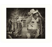 Relieved its over Taralga rodeo 2010 Art Print