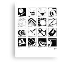 Shaping Language Canvas Print