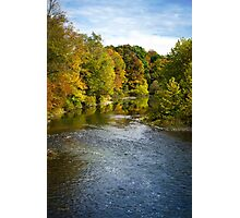 Fall Foliage River Landscape Photographic Print