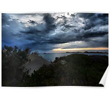 Storm Clouds In The Bay Poster