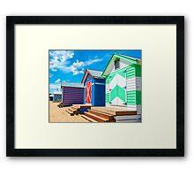 Bathing houses Framed Print