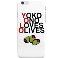 YOLO (Yoko Ono Loves Olives) iPhone Case/Skin