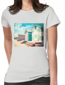 Bathing houses at Brighton Beach, Australia Womens Fitted T-Shirt