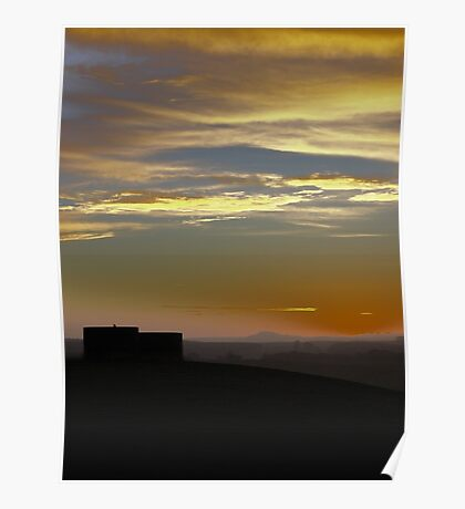Highclere Sunset  Poster