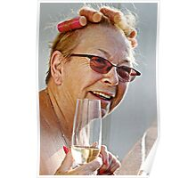 Champagne and Curlers Poster