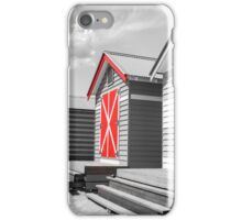 Bathing houses at Brighton Beach, Australia iPhone Case/Skin
