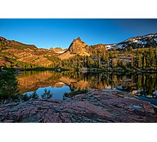 Lake Blanche at sunset Photographic Print