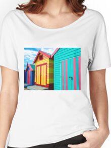 Bathing houses at Brighton Beach, Australia Women's Relaxed Fit T-Shirt