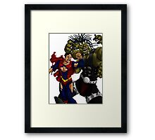 Fallout Fight Framed Print