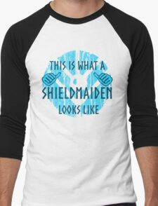 this is what a shieldmaiden looks like #2 Men's Baseball ¾ T-Shirt