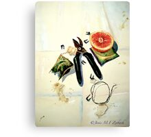 Still Life with Picture Wire Canvas Print