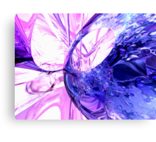 Crystallized Abstract Canvas Print