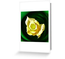 Lemon & Lime Rose Greeting Card