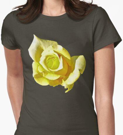 Lemon & Lime Rose Womens Fitted T-Shirt