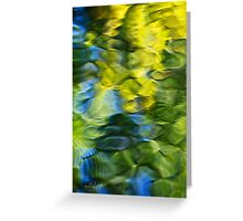 Sea Breeze Abstract Art Greeting Card