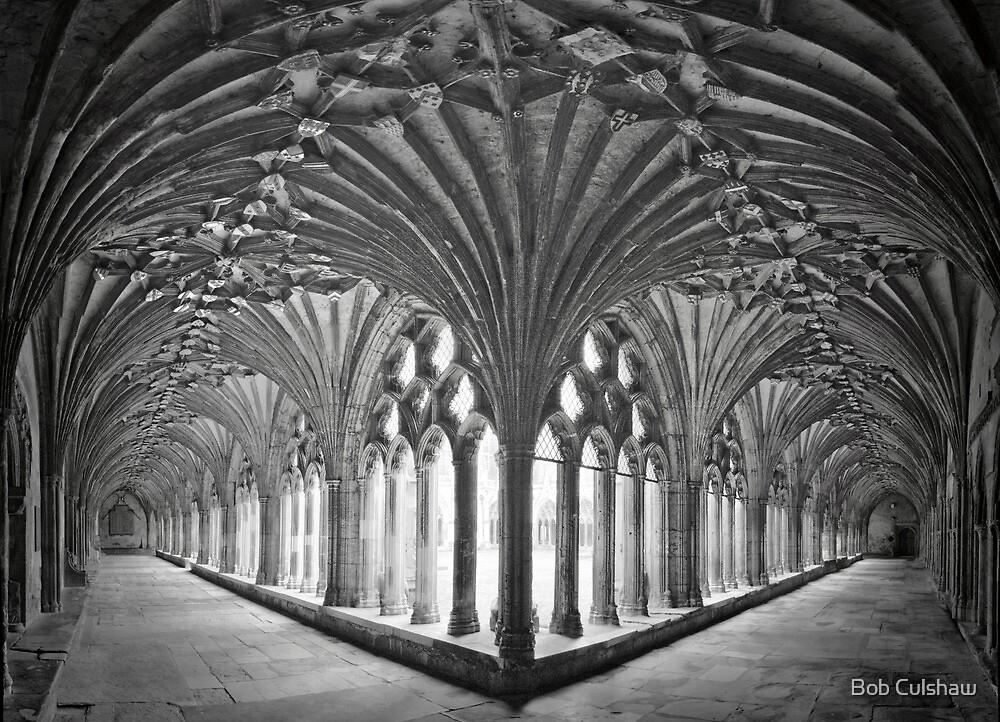 Cloisters at Canterbury Cathedral by Bob Culshaw