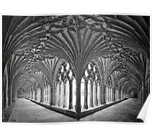 Cloisters at Canterbury Cathedral Poster