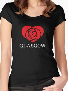 I Heart Glasgow, Scotland Women's Fitted Scoop T-Shirt