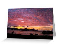 Seychelles sunset Greeting Card