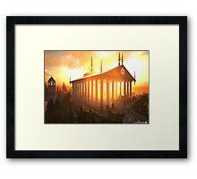 Elven Temple Framed Print