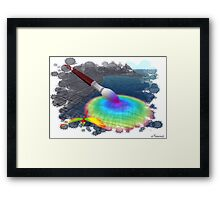 Rainbow brush Framed Print