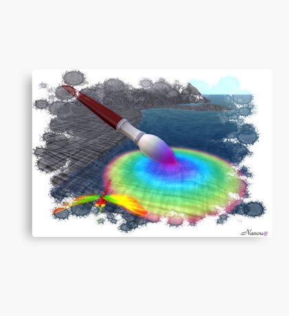Rainbow brush Canvas Print