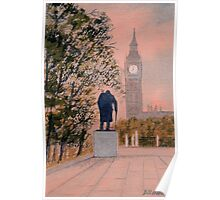 Big Ben and Winston Churchill Poster