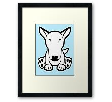 English Bull Terrier Strange Sit  Framed Print