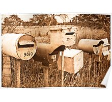 Roadside Mail Boxes with texture Poster
